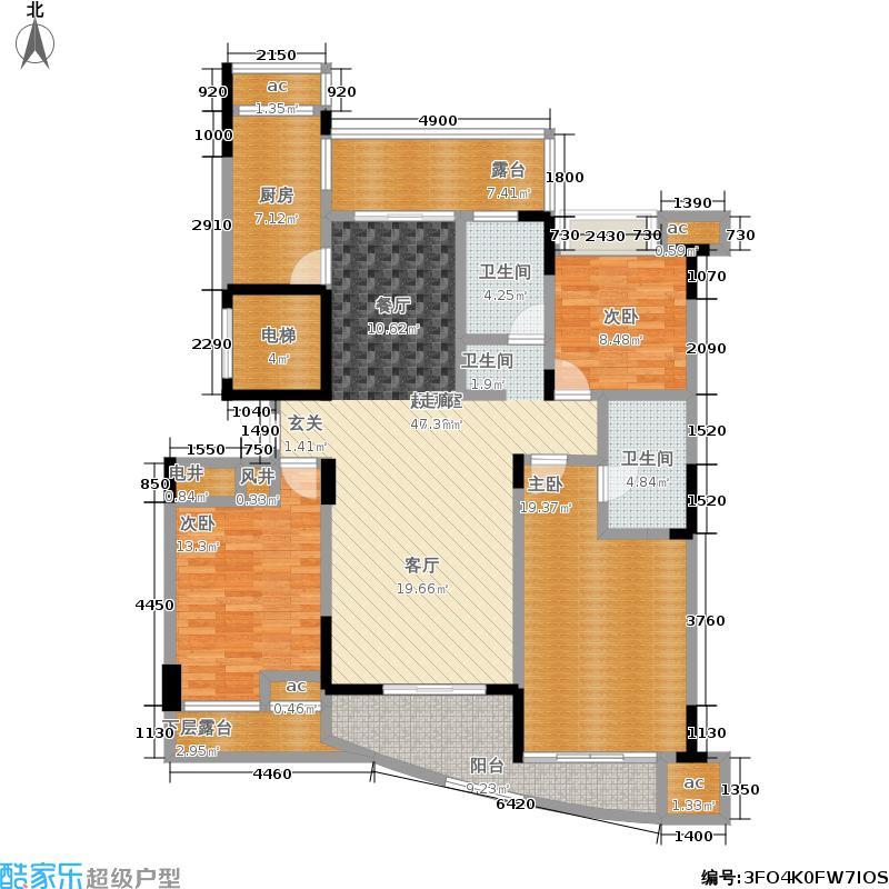 中凯东方红街141.18㎡四期3-I面积14118m户型