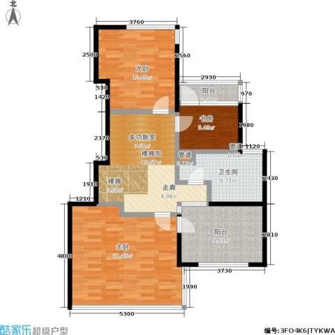 康桥半岛(五期)3室0厅1卫0厨188.00㎡户型图
