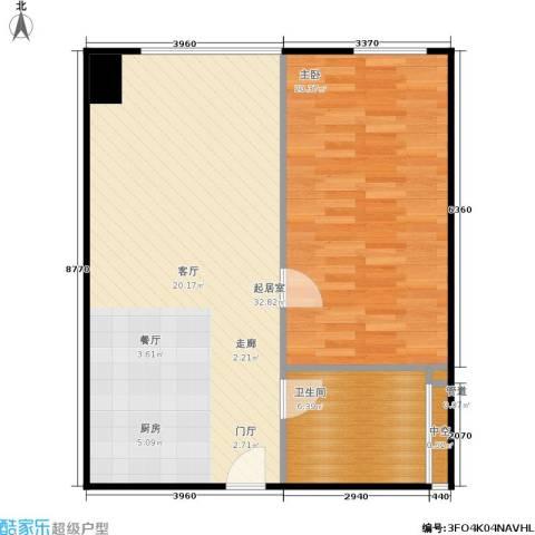 西贸国际·熙旺中心1室0厅1卫0厨69.00㎡户型图