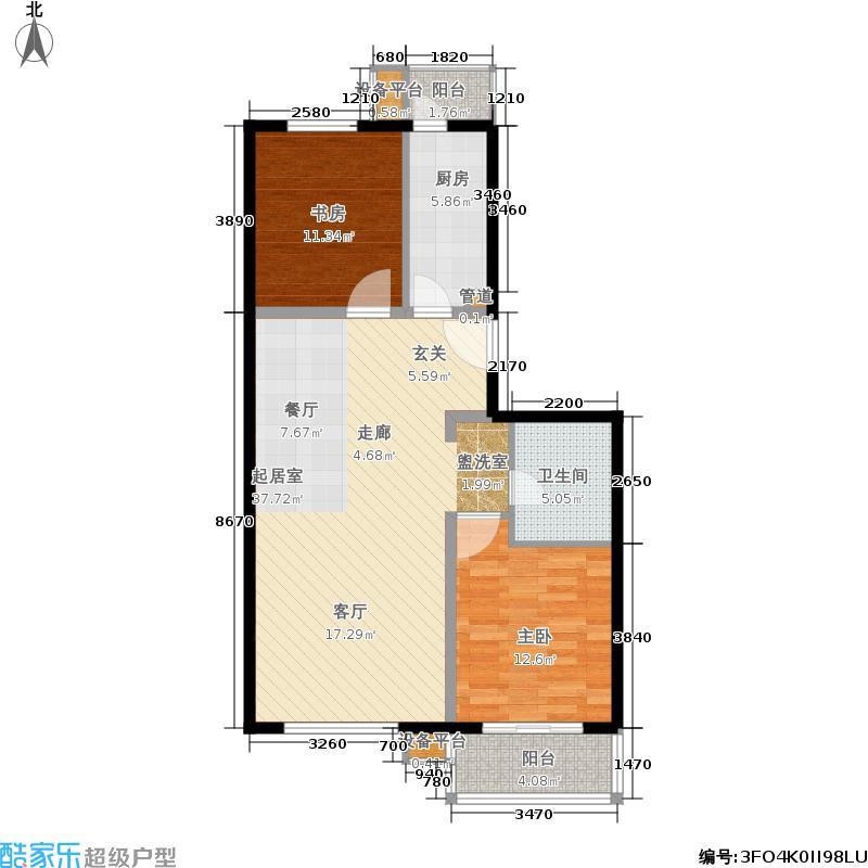 西马金润家园99.57㎡G5号楼C1户面积9957m户型