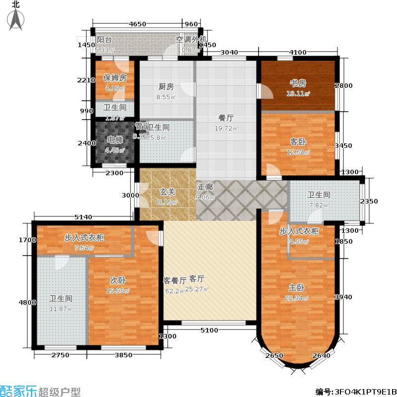 福熙大道251.32㎡C1号楼1-01户型4室2厅
