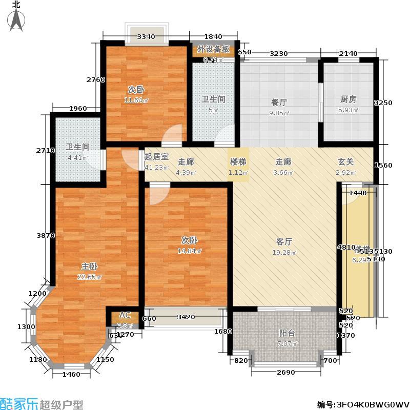 华城格之林花园139.00㎡面积13900m户型