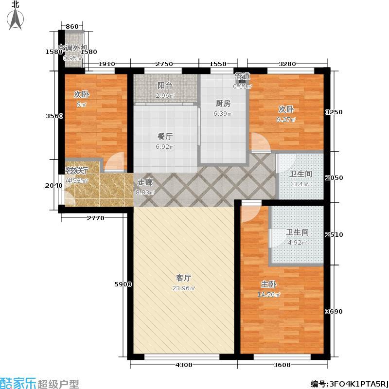 福熙大道137.43㎡A6号楼2单元01户型3室2厅