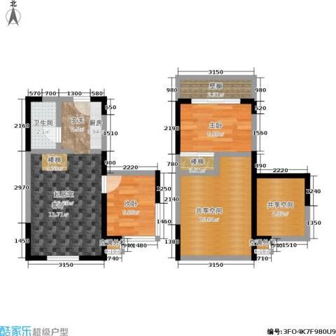 都市斓轩2室0厅1卫0厨71.00㎡户型图