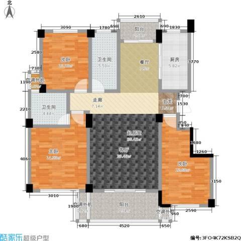 世纪金都3室0厅2卫1厨113.00㎡户型图
