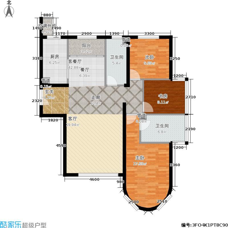 福熙大道137.70㎡A6-1-01户型3室2厅