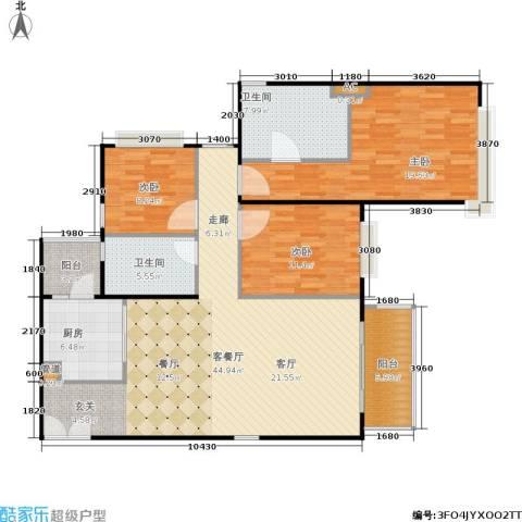 天韵瑚璟3室1厅2卫1厨123.00㎡户型图