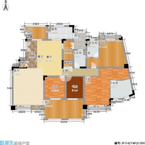 金海岸花园・聚湖4室1厅3卫1厨216.00㎡户型图