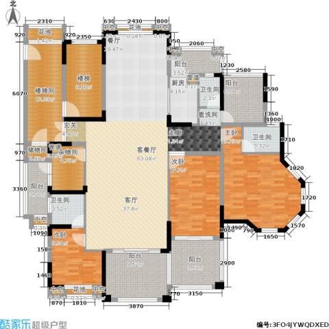 金海岸花园・聚湖3室1厅3卫1厨207.00㎡户型图