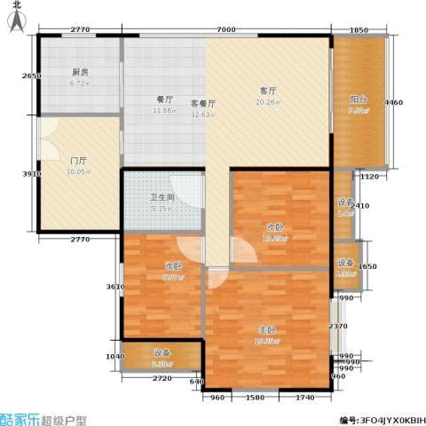 东华・星域3室1厅1卫1厨115.00㎡户型图