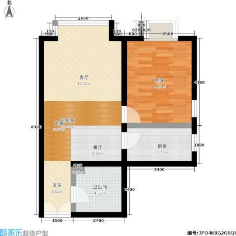 A派公寓1室0厅1卫1厨63.00㎡户型图