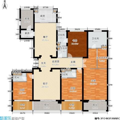 绿地华家池1号4室0厅5卫2厨240.00㎡户型图