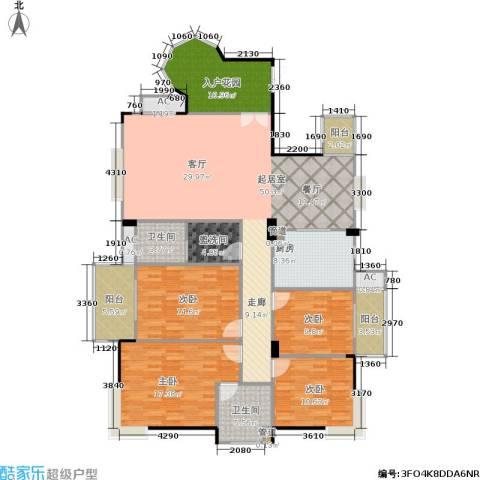 长房东郡(二期)4室0厅2卫1厨168.00㎡户型图