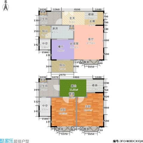 世嘉国际华城二期2室0厅2卫1厨139.00㎡户型图
