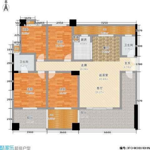 香颂国际4室0厅2卫1厨162.00㎡户型图