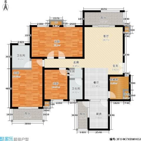 白沙湾嘉园3室0厅2卫1厨164.00㎡户型图
