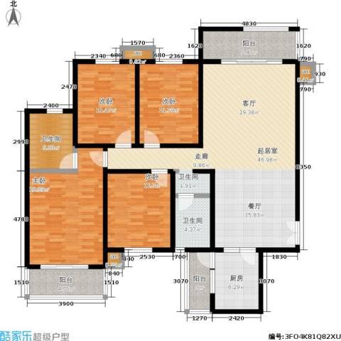 白沙湾嘉园4室0厅2卫1厨170.00㎡户型图