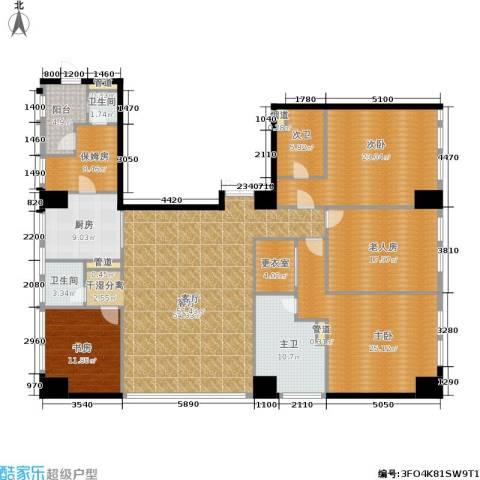 龙吟广场4室1厅2卫1厨202.00㎡户型图