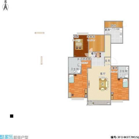 兴泰东河湾3室1厅2卫1厨198.00㎡户型图