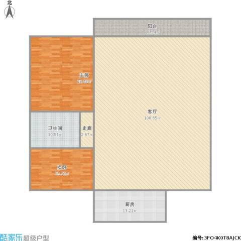 富景华庭2室1厅1卫1厨249.00㎡户型图