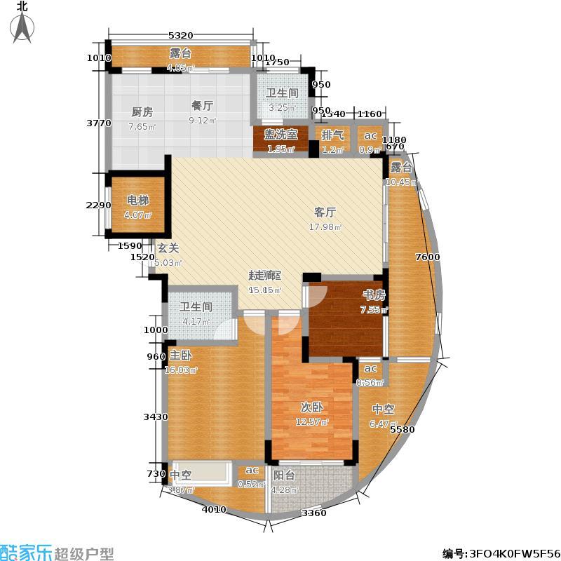中凯东方红街138.66㎡四期3-F面积13866m户型