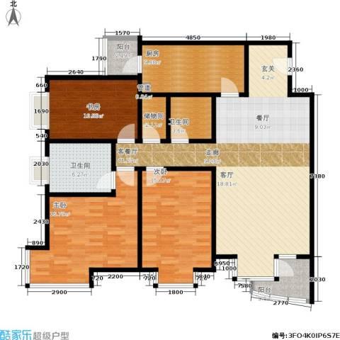 水上华城3室1厅2卫1厨150.00㎡户型图