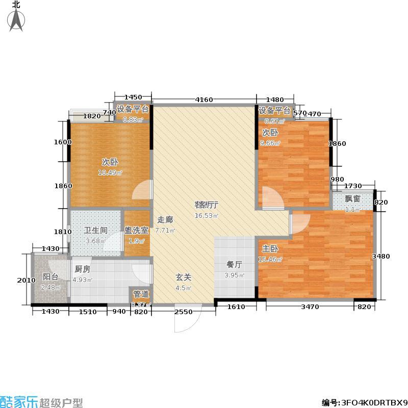 棠湖春天V客75.00㎡二期4、5号楼标准层D3户型