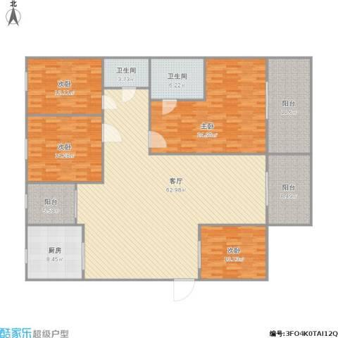 宇宏・健康花城二期4室1厅2卫1厨224.00㎡户型图