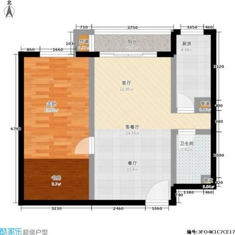 水木天成1室1厅1卫1厨65.00㎡户型图