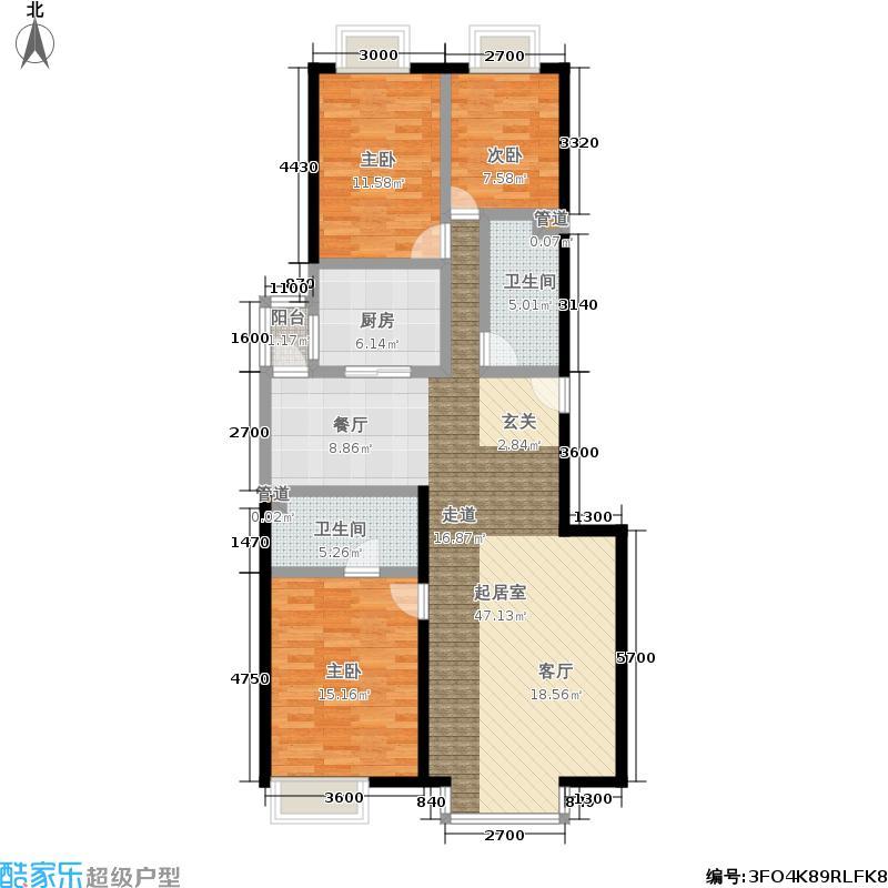 A派公寓138.37㎡4号楼A户型