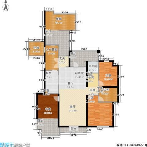 蓝湖郡3室0厅2卫1厨155.00㎡户型图