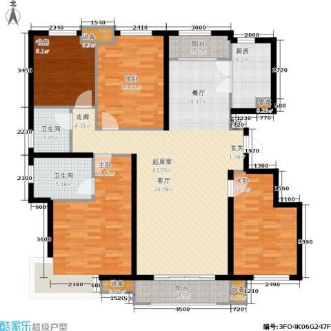 美克嘉美湾4室0厅2卫1厨155.00㎡户型图