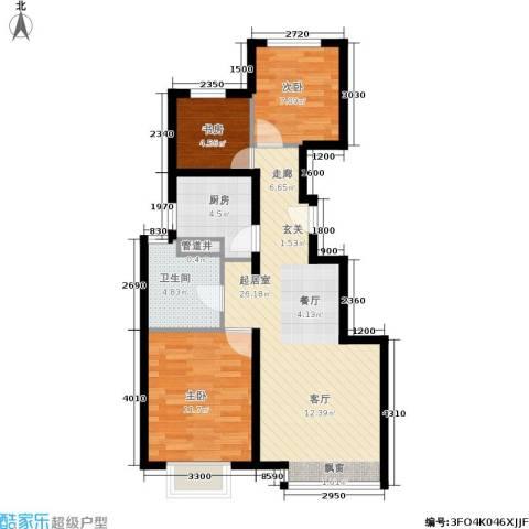 远洋沁山水3室0厅1卫1厨87.00㎡户型图