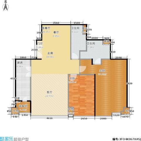 国瑞紫金阁2室1厅2卫1厨158.00㎡户型图
