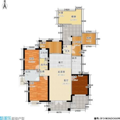 蓝湖郡3室0厅2卫1厨157.89㎡户型图