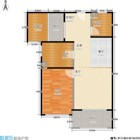 新弘国际阳光城1室1厅1卫1厨72.00㎡户型图