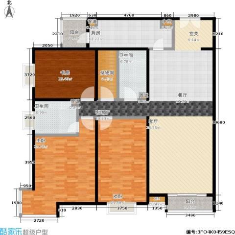 水上华城3室1厅2卫1厨187.00㎡户型图