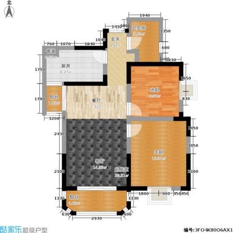 香克林小镇2室0厅1卫1厨92.00㎡户型图