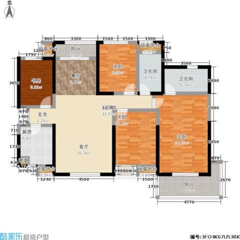 龙湖紫都城4室0厅2卫1厨163.00㎡户型图