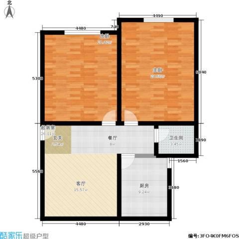 施家花园2室0厅1卫1厨95.00㎡户型图