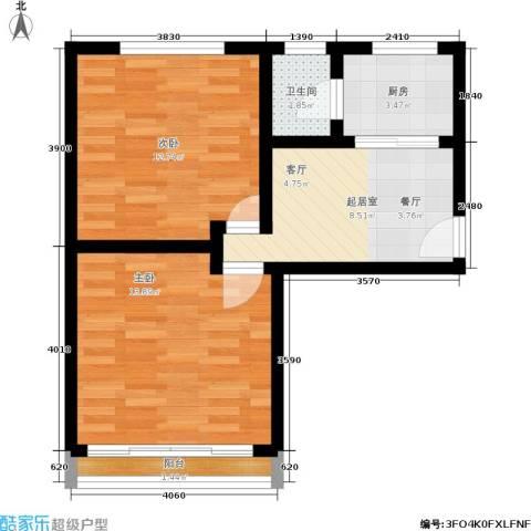 朝晖一区2室0厅1卫1厨50.00㎡户型图