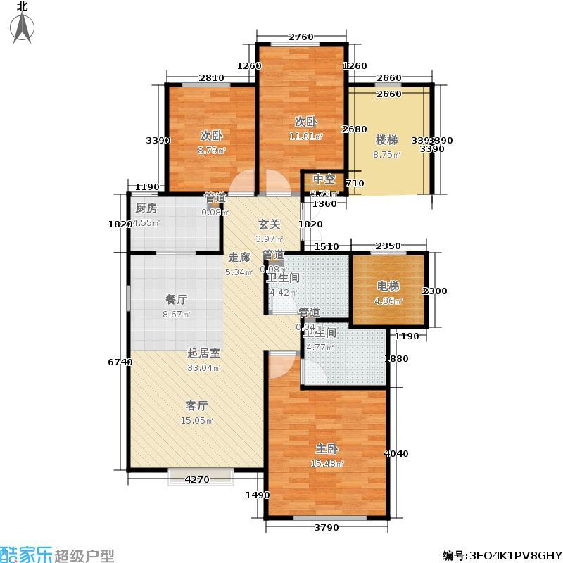 北京城建·世华龙樾110.00㎡二期A户型3室2厅