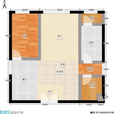 傲城融富中心1室0厅1卫1厨79.00㎡户型图