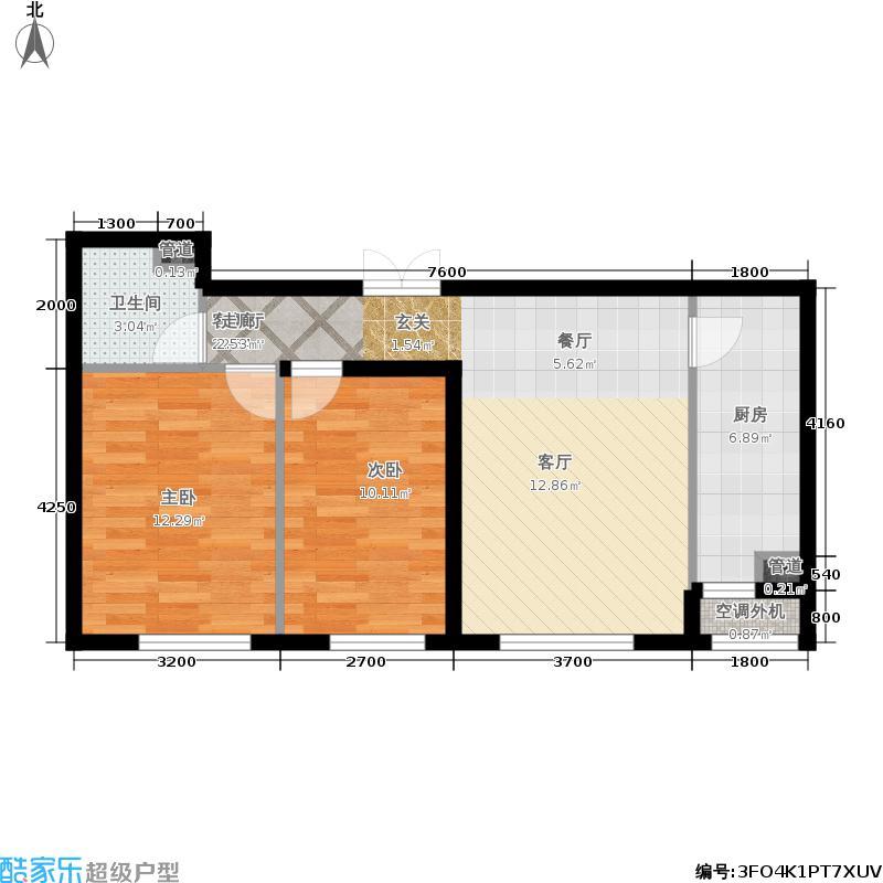 福熙大道85.18㎡A8号楼1-03/2-02户型2室1厅