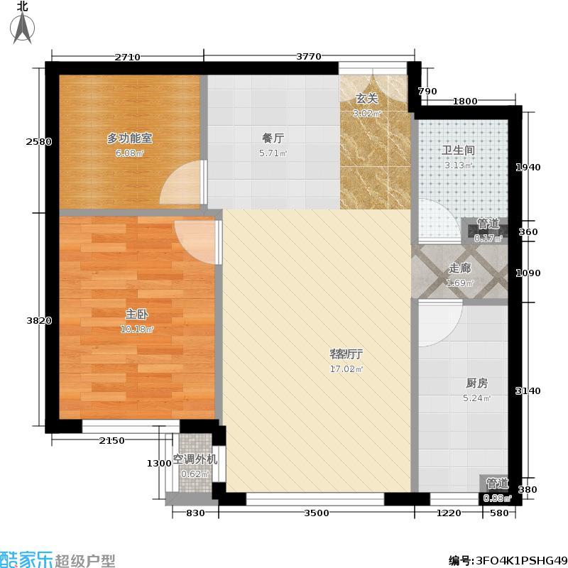 福熙大道73.19㎡天润·C8号楼2-03户型1室2厅