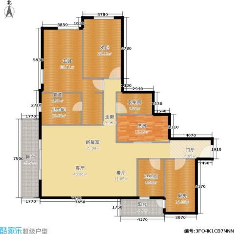 世茂宫园3室0厅3卫1厨198.00㎡户型图
