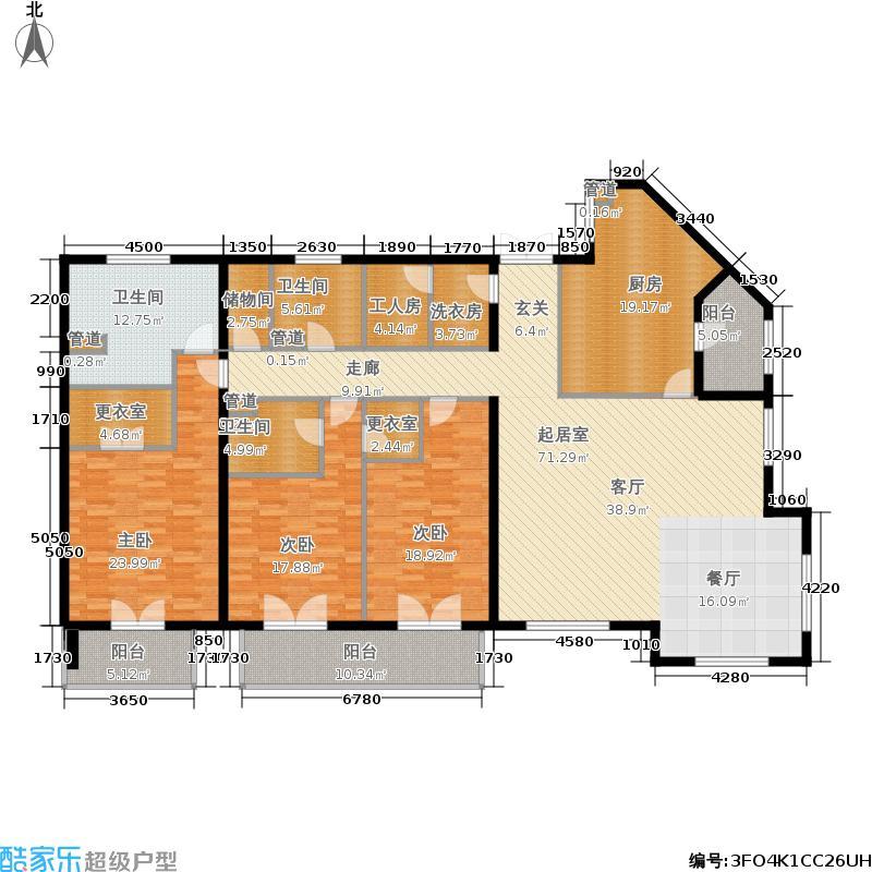 九号公寓311.44㎡A-1标准层面积31144m户型