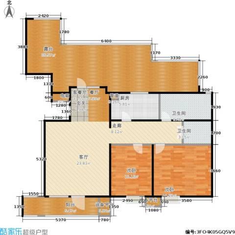 康城·瑞河兰乔2室1厅2卫1厨122.43㎡户型图
