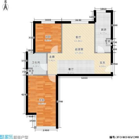 远洋沁山水2室0厅1卫1厨89.00㎡户型图