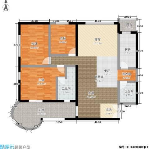 傲城融富中心3室0厅2卫1厨171.00㎡户型图